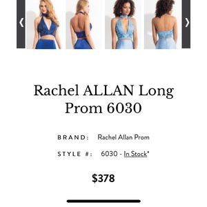 Rachel Allan Prom Dress